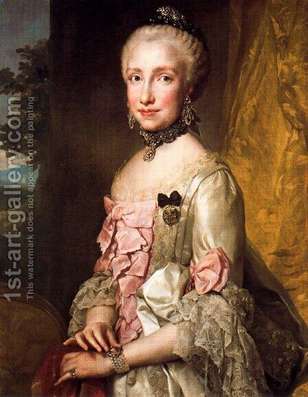 Maria Luisa de Bourbon by Anton Raphael Mengs - Reproduction Oil Painting