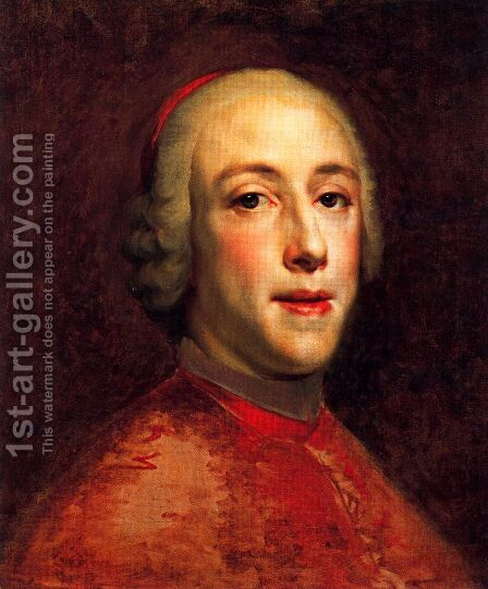 Portrait of Henry Benedict Marie Clement Edward Stuart, Cardinal York by Anton Raphael Mengs - Reproduction Oil Painting