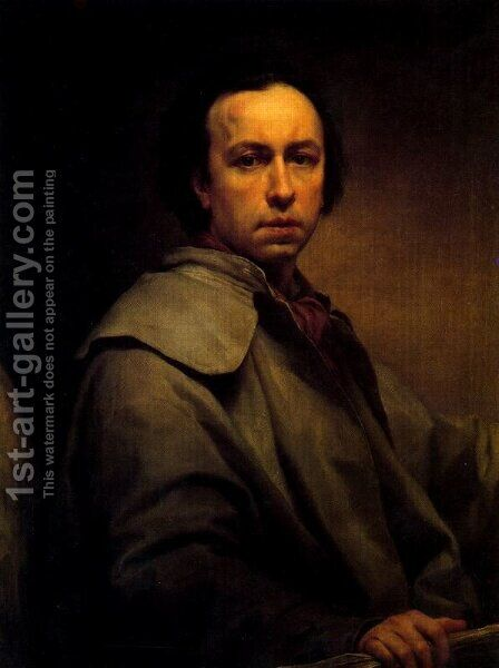 Self-portrait 5 by Anton Raphael Mengs - Reproduction Oil Painting