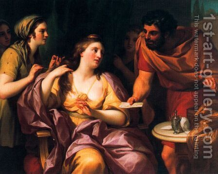Semiramide welcomes the news of the revolt of Babylonian by Anton Raphael Mengs - Reproduction Oil Painting
