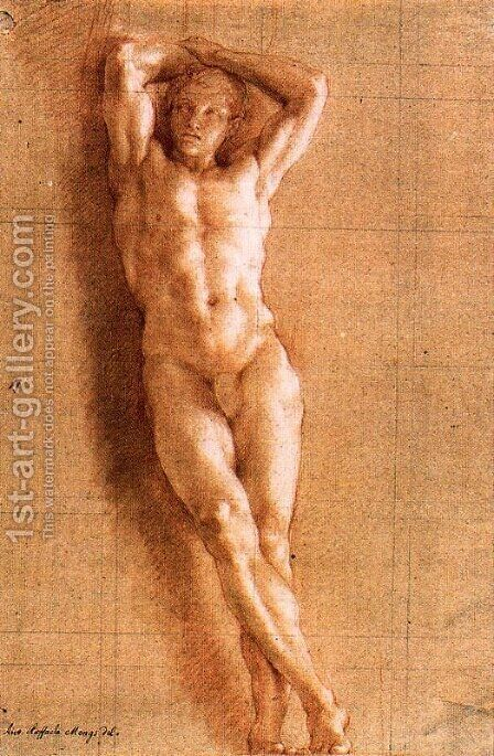 Study naked for a Telamon 2 by Anton Raphael Mengs - Reproduction Oil Painting