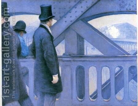 The Pont de Europe (study) by Gustave Caillebotte - Reproduction Oil Painting