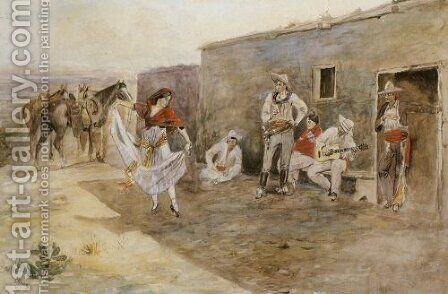 Casa Alegre by Charles Marion Russell - Reproduction Oil Painting
