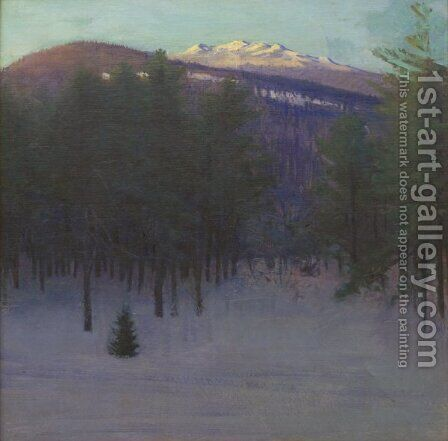Monadnock in Winter by Abbott Handerson Thayer - Reproduction Oil Painting