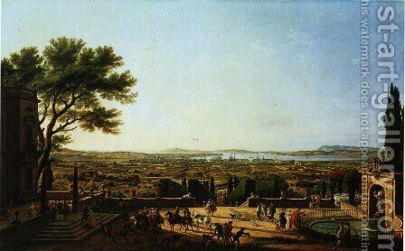 Second sight, the port of Toulon, a view of Mont Faron by Claude-joseph Vernet - Reproduction Oil Painting