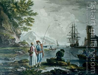 The Return of the Fishing by Claude-joseph Vernet - Reproduction Oil Painting