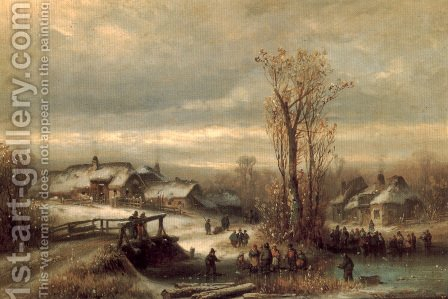 Muhle on The Sempt in Upper Bavaria by Anton Doll - Reproduction Oil Painting
