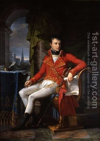 Napoleon Bonaparte, First Consul by Charles Meynier - Reproduction Oil Painting