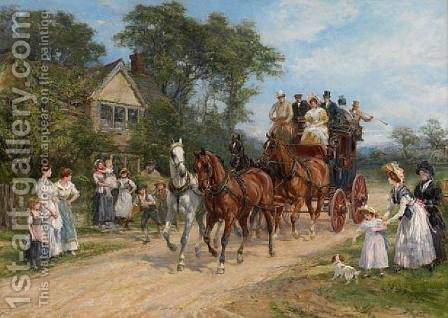 The Event of the Day by Heywood Hardy - Reproduction Oil Painting
