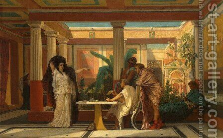 The Rehearsal in the House of the Tragic Poet by Gustave Clarence Rodolphe Boulanger - Reproduction Oil Painting