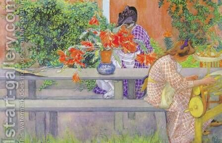 Cactus by Carl Larsson - Reproduction Oil Painting