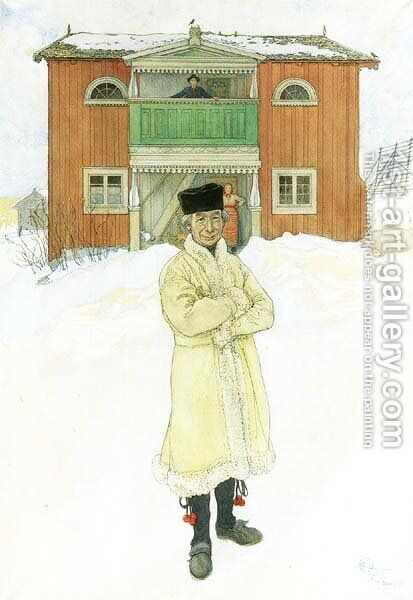 Daniels Mats by Carl Larsson - Reproduction Oil Painting
