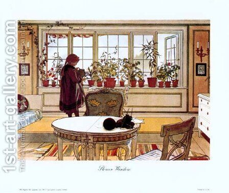 Flower Window by Carl Larsson - Reproduction Oil Painting