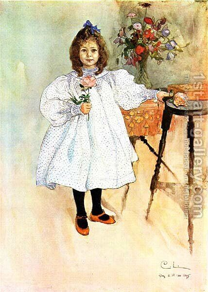 Gladys by Carl Larsson - Reproduction Oil Painting