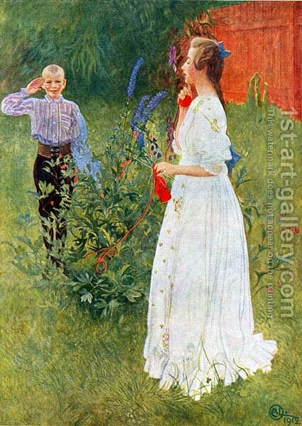 Her Royal Highness Big Sister by Carl Larsson - Reproduction Oil Painting