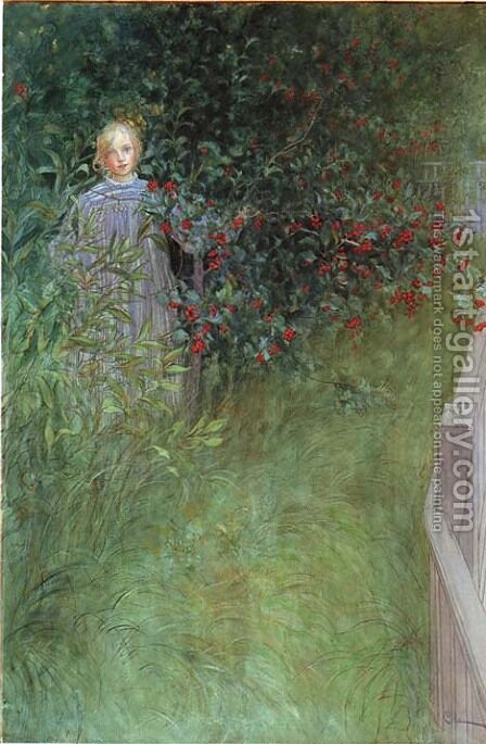 In The Hawthorn by Carl Larsson - Reproduction Oil Painting