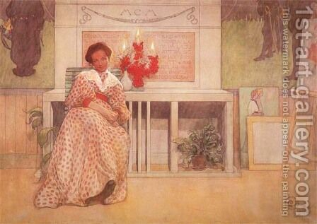 In The Studio After The Ball by Carl Larsson - Reproduction Oil Painting