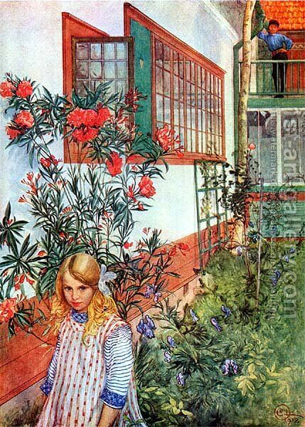 Ingrid W. by Carl Larsson - Reproduction Oil Painting