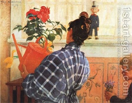 Karin And Esbjorn by Carl Larsson - Reproduction Oil Painting