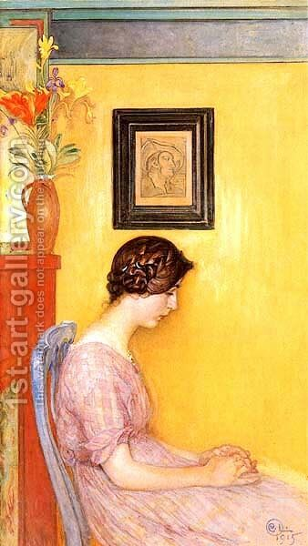Kersti 1915 by Carl Larsson - Reproduction Oil Painting