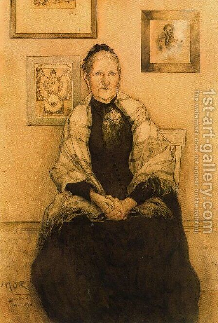 My mother by Carl Larsson - Reproduction Oil Painting