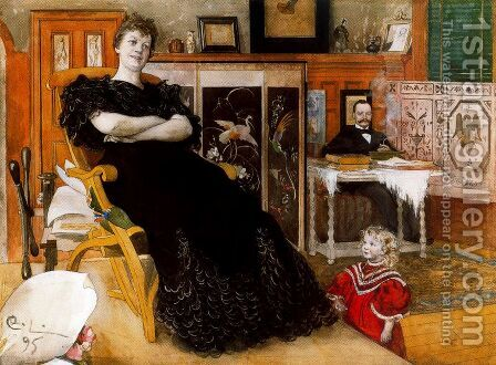 Portrait of Anna Petersson-Norrie by Carl Larsson - Reproduction Oil Painting