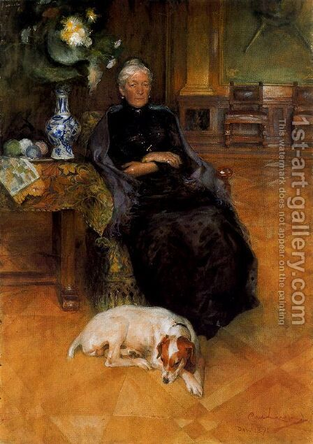 Portrait of Göthilda Fürstenderg by Carl Larsson - Reproduction Oil Painting