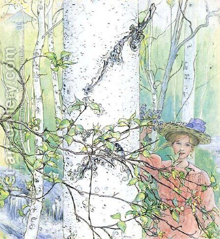 Spring by Carl Larsson - Reproduction Oil Painting