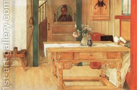 Sunday Rest by Carl Larsson - Reproduction Oil Painting