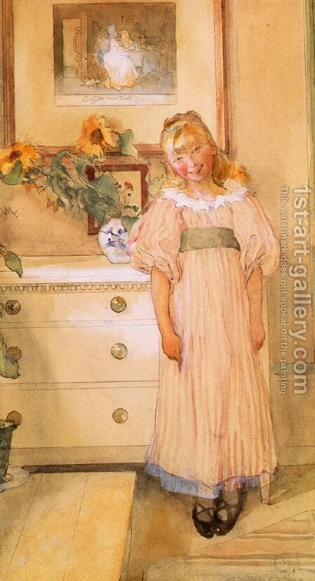 Sunflowers by Carl Larsson - Reproduction Oil Painting