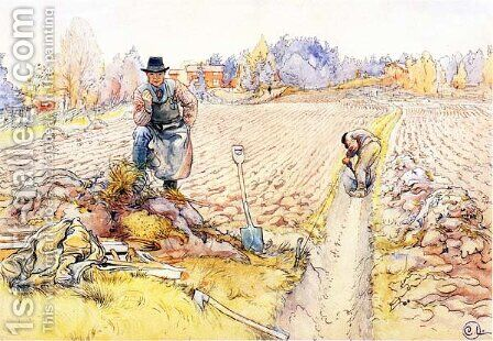 The Ditching by Carl Larsson - Reproduction Oil Painting