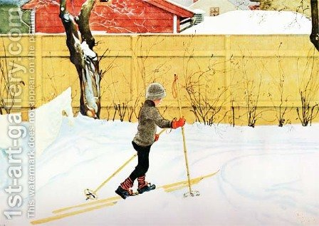 The Falun Yard by Carl Larsson - Reproduction Oil Painting