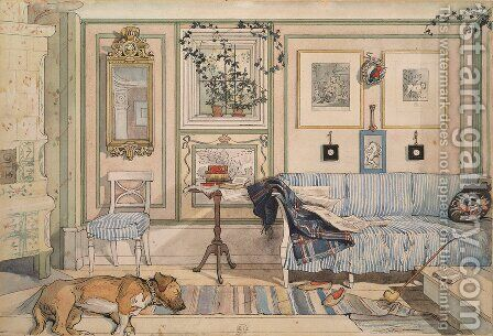 The Lazy Corner by Carl Larsson - Reproduction Oil Painting