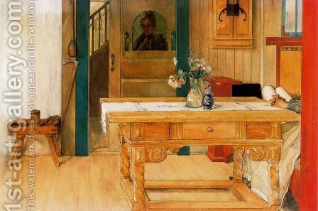 The Sunday Rest by Carl Larsson - Reproduction Oil Painting