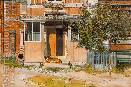 The Veranda by Carl Larsson - Reproduction Oil Painting