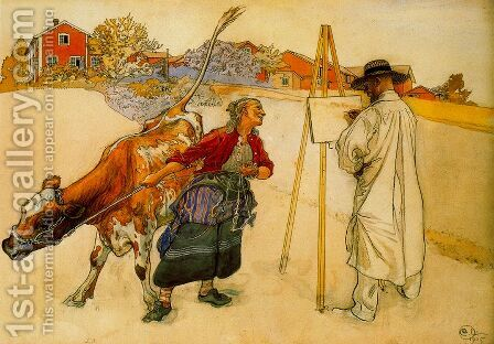 The farmer by Carl Larsson - Reproduction Oil Painting