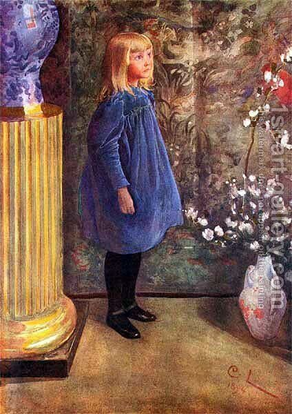 Ulla by Carl Larsson - Reproduction Oil Painting