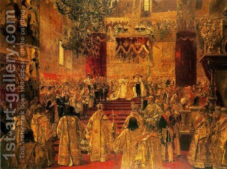 The Coronation of Nicholas II by Henri Gervex - Reproduction Oil Painting