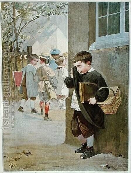 In Detention by Henri-Jules-Jean Geoffroy (Geo) - Reproduction Oil Painting