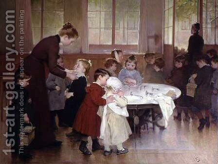 Nursery school by Henri-Jules-Jean Geoffroy (Geo) - Reproduction Oil Painting