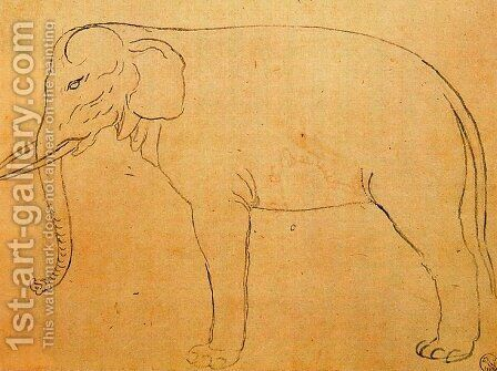 Drawing of an elephant by Giuseppe Arcimboldo - Reproduction Oil Painting