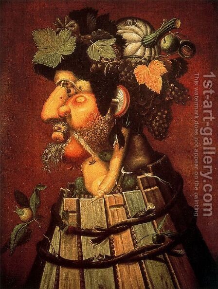 The Autumn by Giuseppe Arcimboldo - Reproduction Oil Painting