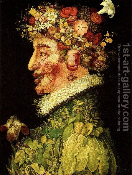 The Spring by Giuseppe Arcimboldo - Reproduction Oil Painting