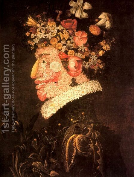 The Spring 2 by Giuseppe Arcimboldo - Reproduction Oil Painting