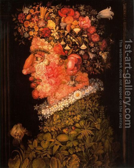 The Spring 3 by Giuseppe Arcimboldo - Reproduction Oil Painting