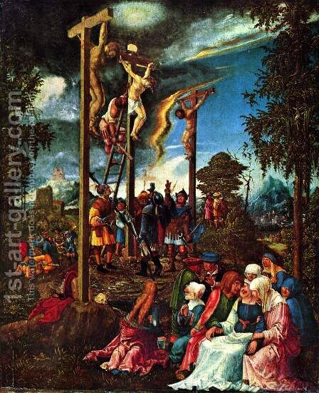 Calvary by Albrecht Altdorfer - Reproduction Oil Painting