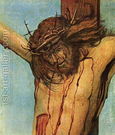 Christ on the Cross between Mary and St John (detail 1) by Albrecht Altdorfer - Reproduction Oil Painting