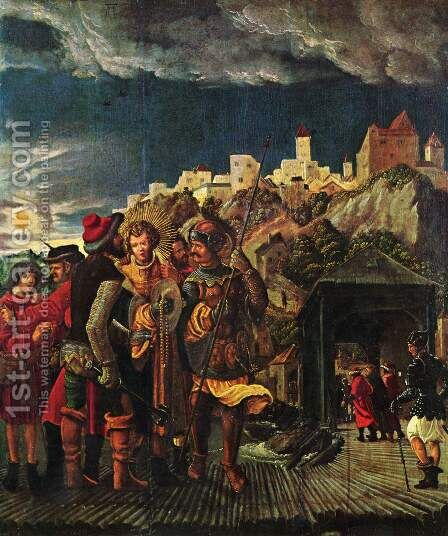 Legend of St. Florian, scene of St. Florian's capture by Albrecht Altdorfer - Reproduction Oil Painting