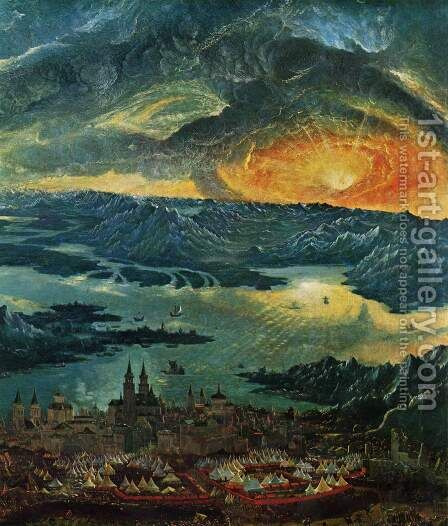 The Battle of Alexander at Issus (detail 5) by Albrecht Altdorfer - Reproduction Oil Painting