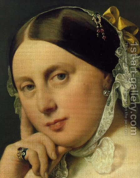 Delphine Ramel, Madame Ingres (detail 1) by Jean Auguste Dominique Ingres - Reproduction Oil Painting